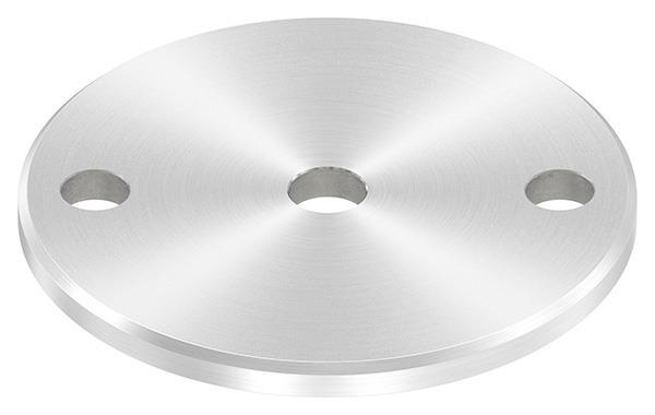 Ankerplatte (rund) 100x6 mm mit Rundschliff und Fase V2A