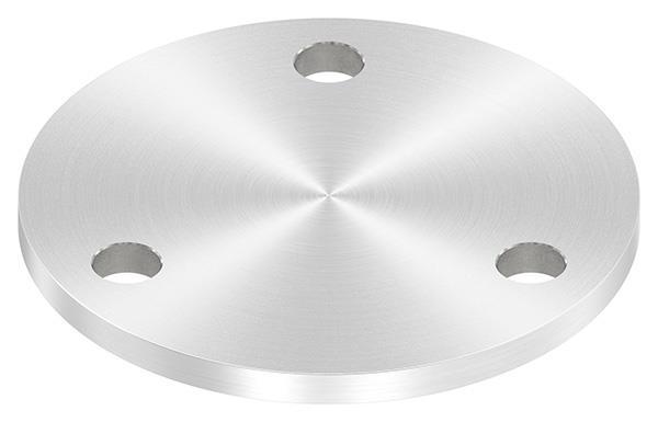 Ankerplatte (rund) 100x6 mm mit Rundschliff V2A