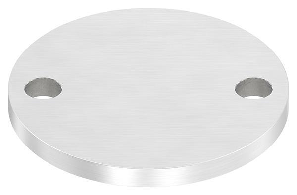 Ankerplatte (rund) 100x8 mm mit Längsschliff V2A