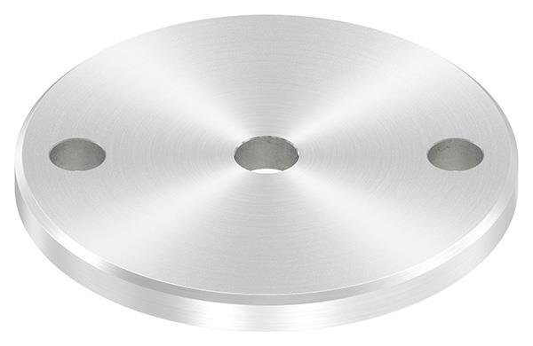 Ankerplatte (rund) 100x8 mm mit Rundschliff und Fase V2A