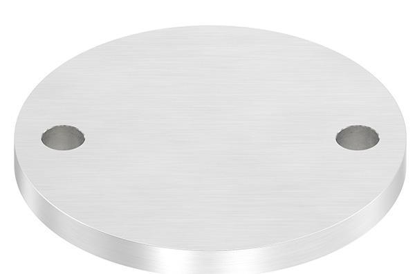 Ankerplatte (rund) 120x10 mm mit Längsschliff V2A