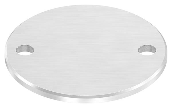 Ankerplatte (rund) 120x6 mm mit Längsschliff + Fase V2A