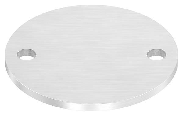 Ankerplatte (rund) 120x6 mm mit Längsschliff V2A
