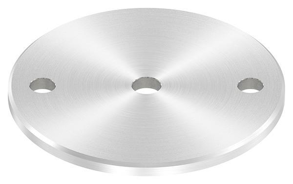Ankerplatte (rund) 120x6 mm mit Rundschliff und Fase V2A