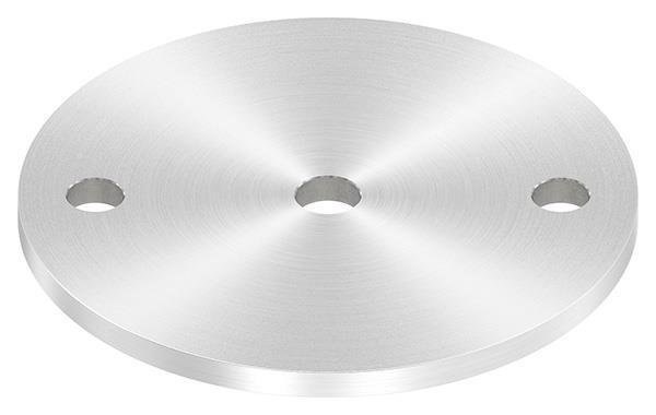 Ankerplatte (rund) 120x6 mm mit Rundschliff V2A
