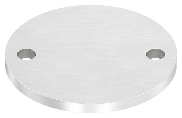 Ankerplatte (rund) 120x8 mm mit Längsschliff V2A
