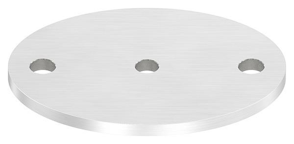 Ankerplatte (rund) 120x88x6 mm mit Längsschliff V2A