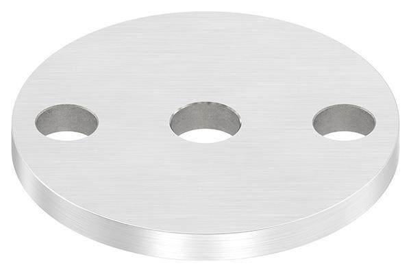 Ankerplatte (rund) 70x6 mm mit Längsschliff V2A
