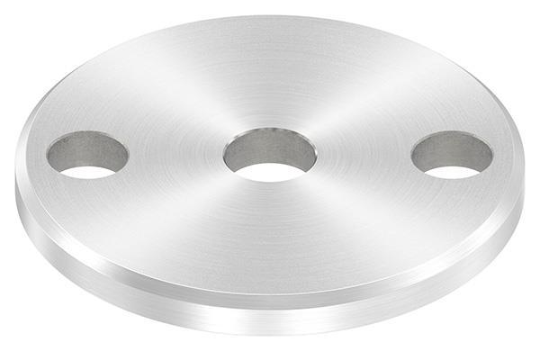 Ankerplatte (rund) 70x6 mm mit Rundschliff und Fase V2A