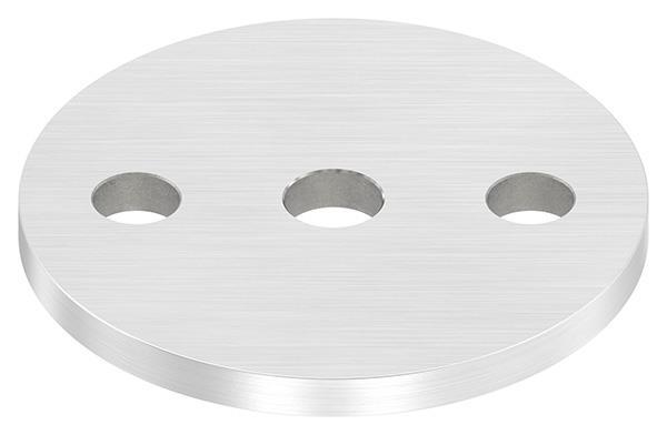 Ankerplatte (rund) 80x6 mm mit Längsschliff V2A