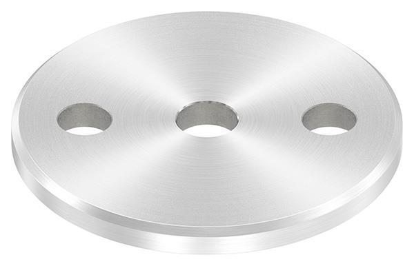 Ankerplatte (rund) 80x6 mm mit Rundschliff und Fase V2A