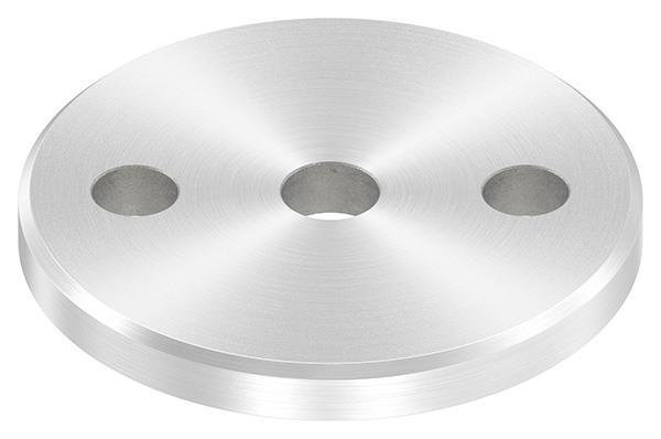 Ankerplatte (rund) 80x8 mm mit Rundschliff und Fase V2A