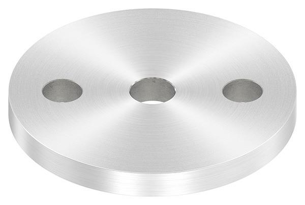 Ankerplatte (rund) 80x8 mm mit Rundschliff V2A