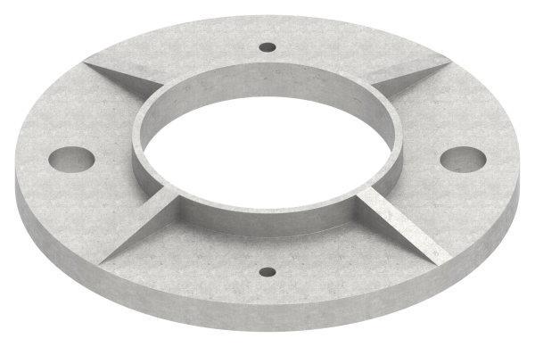 Ankerplatte V2A Ø 120x6 mm für Rundrohr Ø 60,3 mm