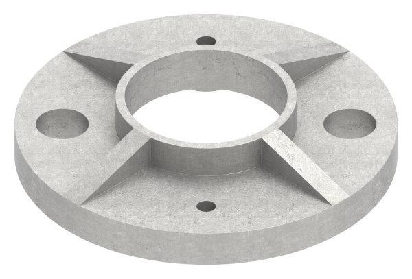 Ankerplatte V2A Ø 80 x 6 mm für Rundrohr Ø 33,7 mm