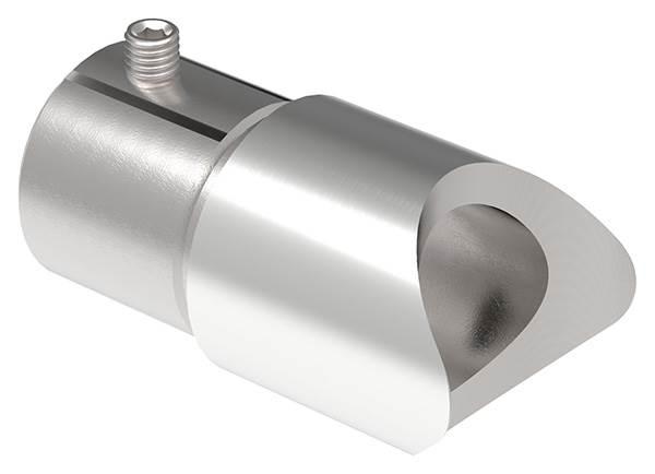 Anschlussstück 90° für Rundrohr Ø 42,4x2,6 mm V2A
