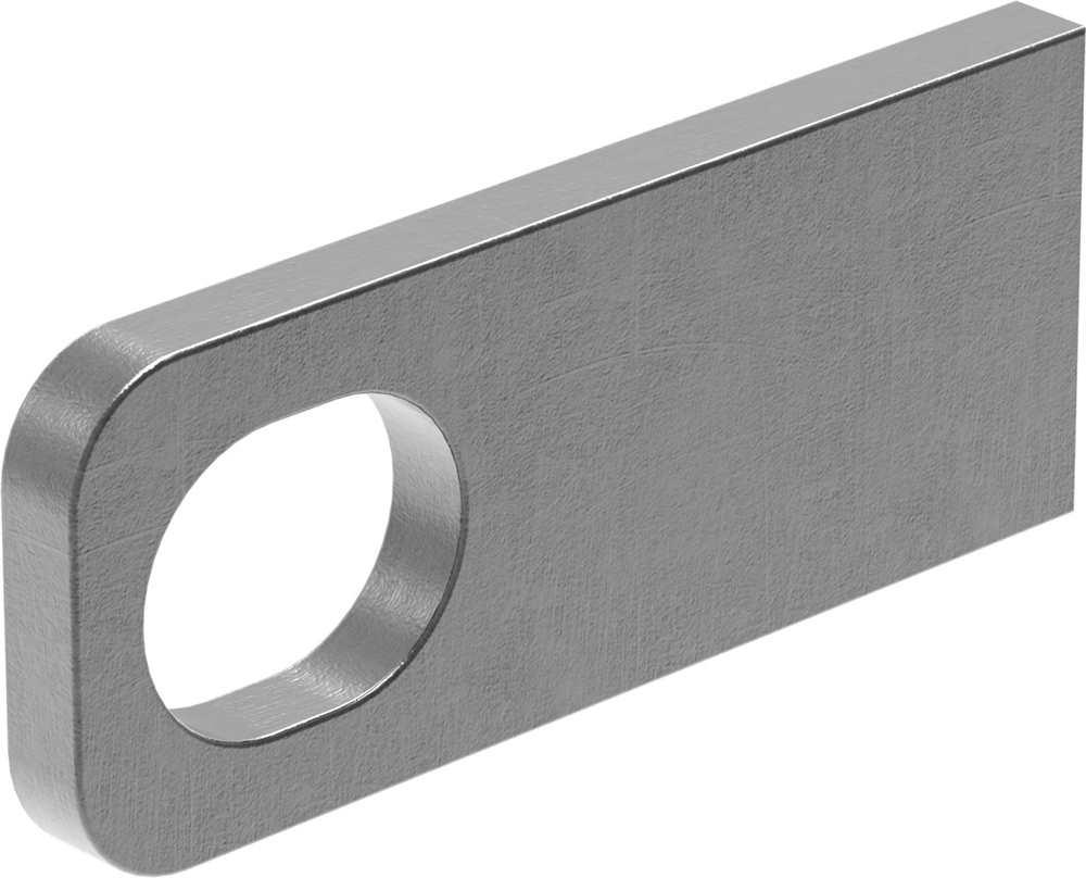 Anschweißlasche   Maße: 100x40x8 mm   Langloch: 30x24 mm   Stahl (roh) S235JR