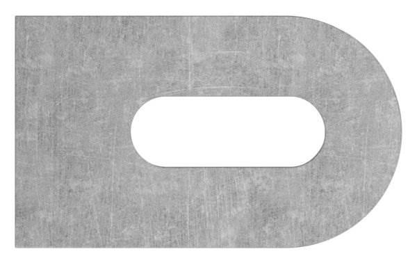 Anschweißlasche   Maße: 50x30x6 mm   Langloch: 25x9 mm   Stahl (roh) S235JR