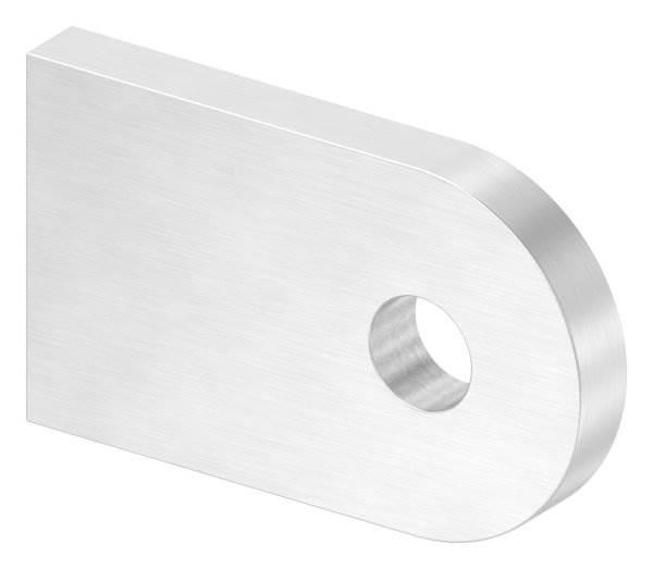 Anschweißlasche | Maße: 50x30x6 mm | mit Rundloch: Ø 9 mm | V2A