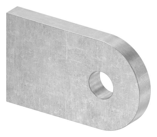 Anschweißlasche   Maße: 50x30x6 mm   Rundloch: Ø 9 mm   Stahl (roh) S235JR