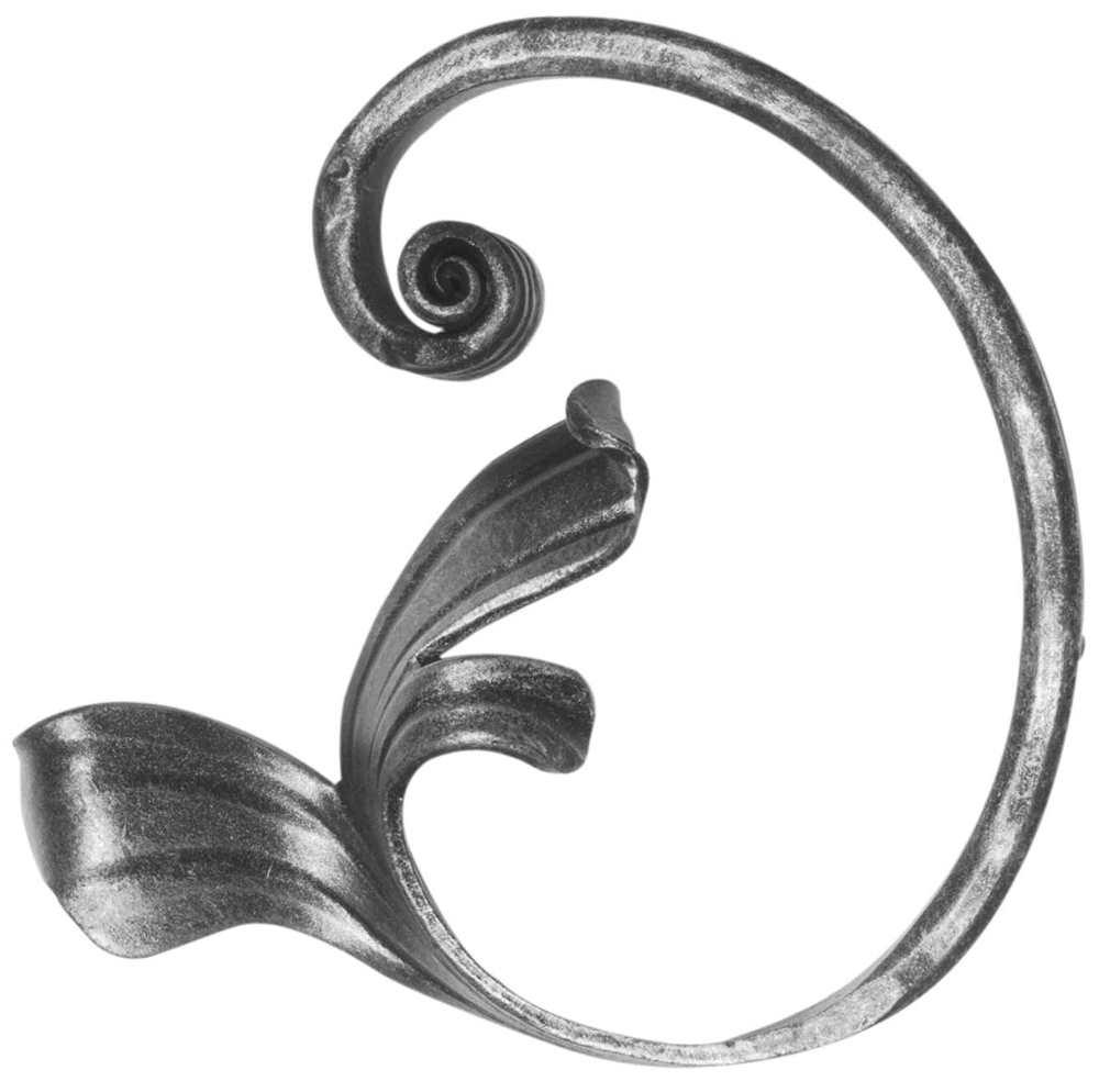 Meisterbarock | Maße: 135x140 mm | Material: 16x8 mm | Stahl S235JR, roh