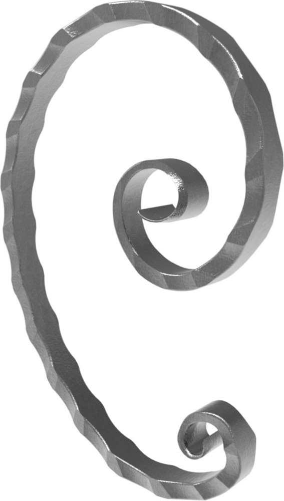 Meisterbarock | Maße: 145x215 mm | Material: 16x8 mm | Stahl S235JR, roh