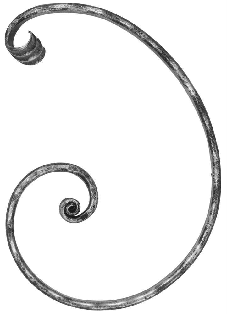 Meisterbarock | Maße: 205x285 mm | Material: 16x8 mm | Stahl S235JR, roh