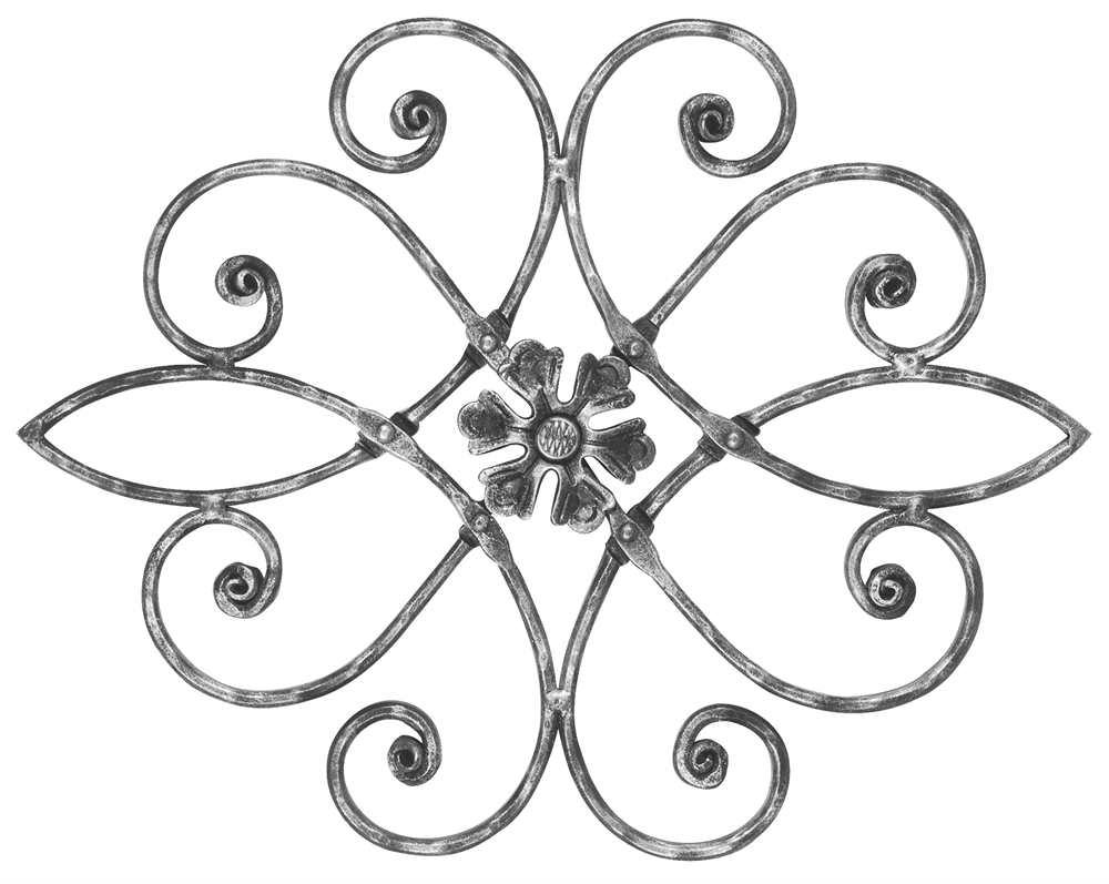 Meisterbarock | Maße: 390x465 mm | Material: 16x8 mm | Stahl S235JR, roh