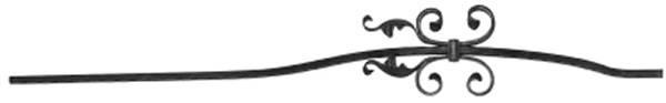 Bauchstab | Länge: 1000 mm | Material: 12x12 mm | Stahl S235JR, roh