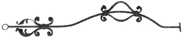 Bauchstab | Länge: 1000 mm | Material: 16x8 mm | Stahl S235JR, roh
