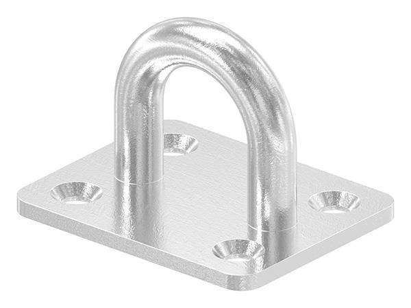 Befestigungsöse 8 mm mit rechteckiger Platte V4A