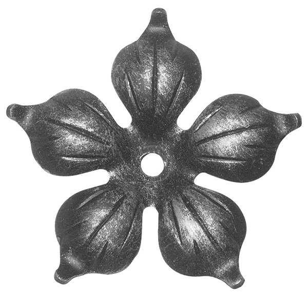 Rosette / Zierteil |  Ø 90x2 mm mit Mittelbohrung 5,5 mm | Stahl (Roh) S235JR
