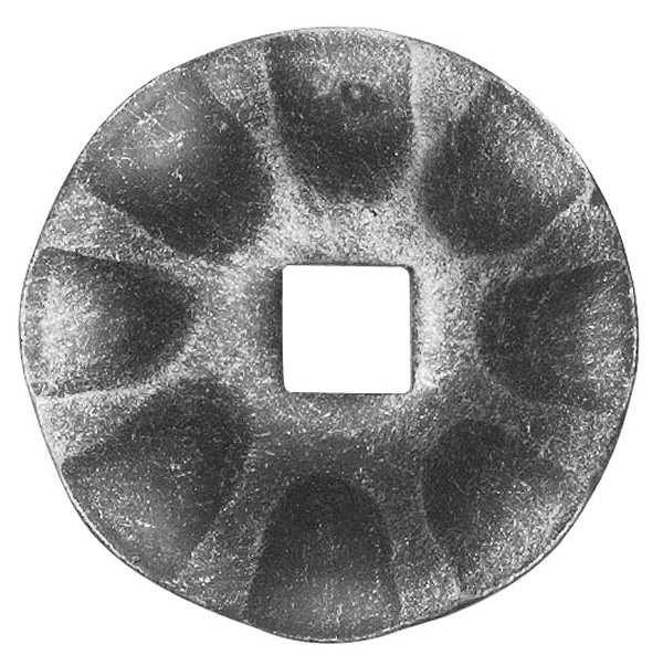 Rosette / Zierteil |  Ø 65x3 mm | Stahl (Roh) S235JR