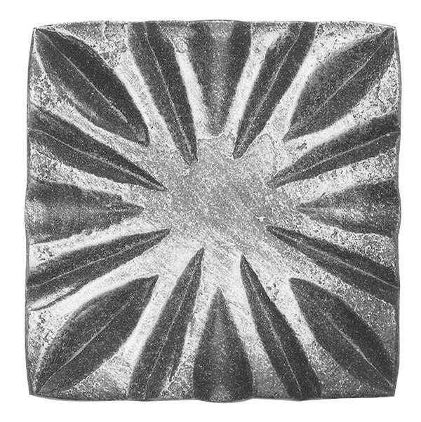 Rosette / Zierteil | 80x80x10 mm  | Stahl (Roh) S235JR
