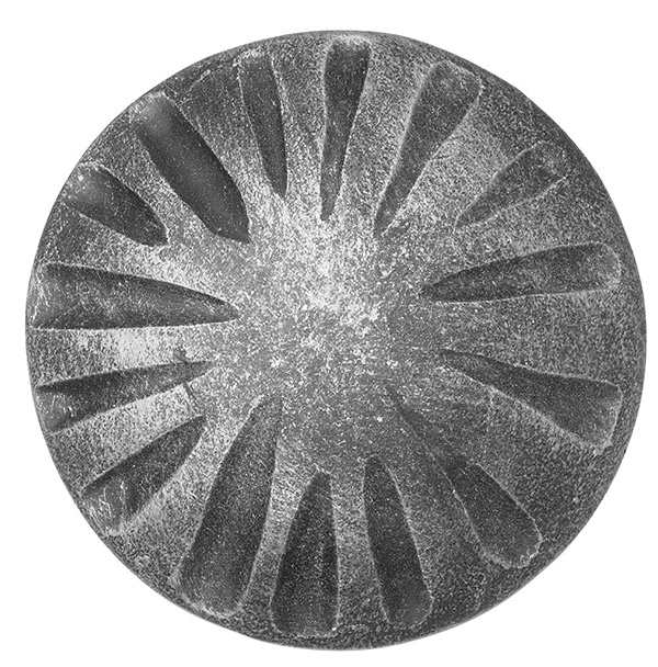 Rosette / Zierteil |  Ø 100x6 mm Stahl roh | Stahl (Roh) S235JR