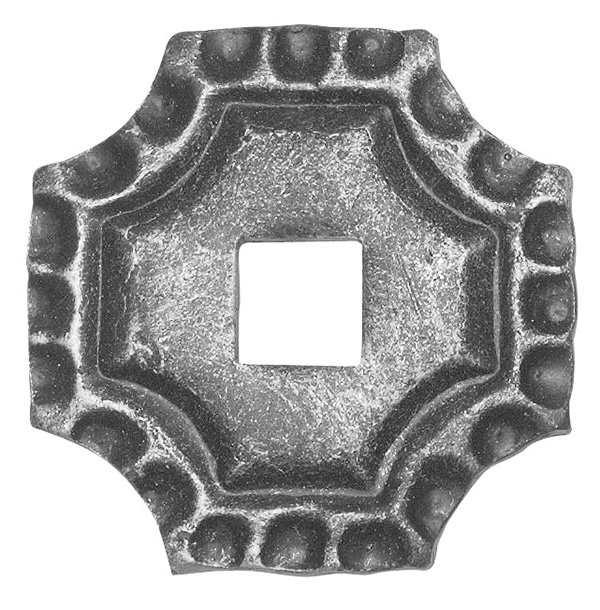 Rosette / Zierteil | quadratisch 75x75x5 mm | Stahl (Roh) S235JR