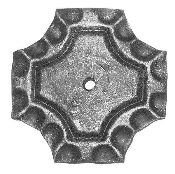 Rosette / Zierteil | quadratisch 65x65x5 mm | Stahl (Roh) S235JR