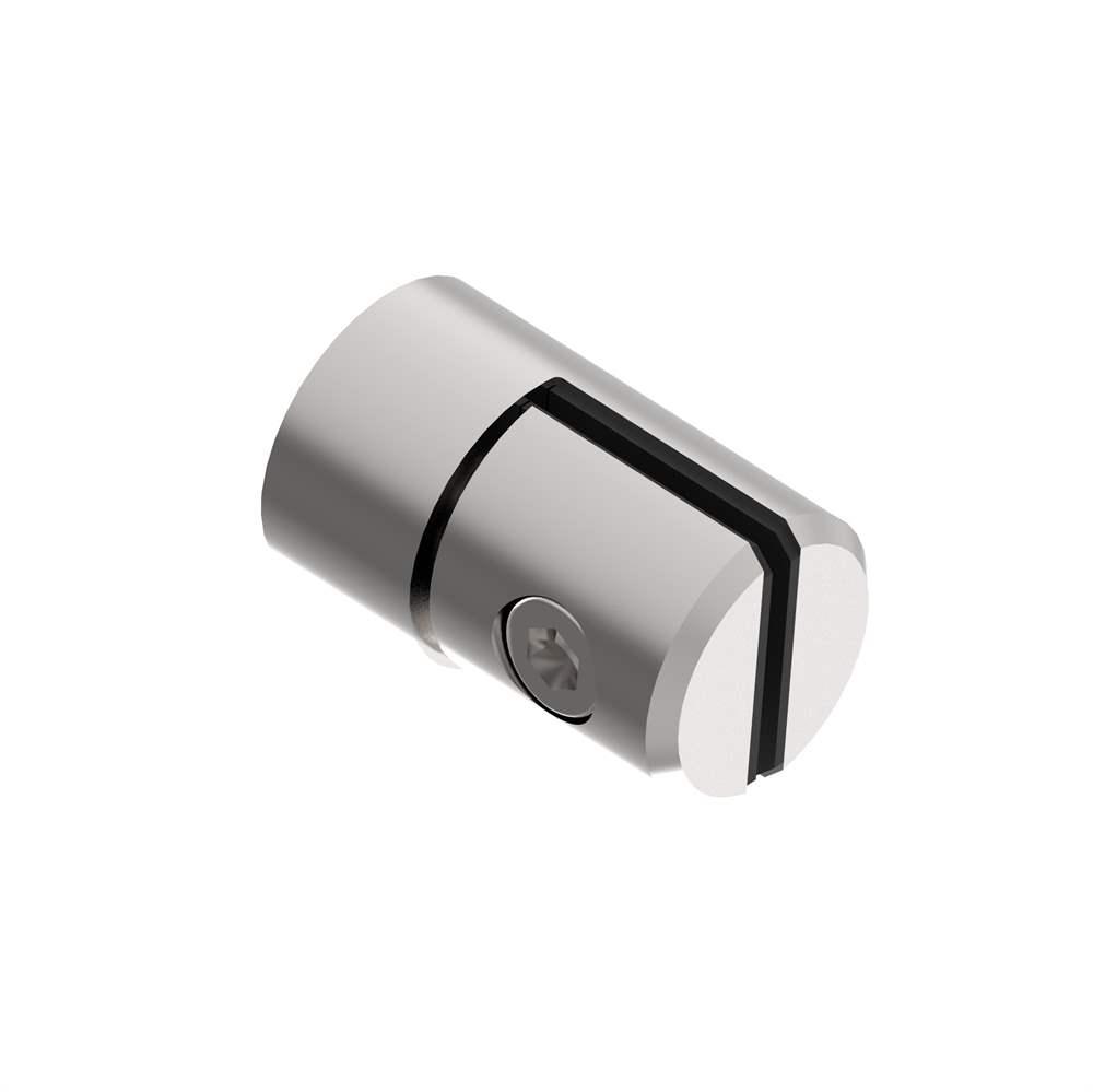 Blechhalter Ø 25 mm V2A für Anschluss flach/gerade