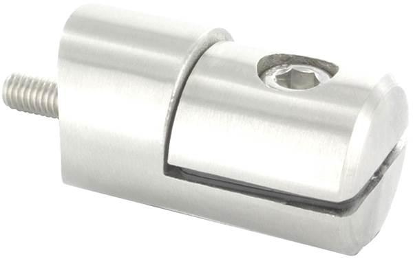 Blechhalter Ø 25 mm V4A für Anschluss Ø 42,4 mm