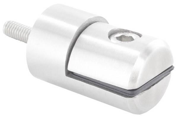Blechhalter Ø 25 mm V4A für Anschluss flach/gerade