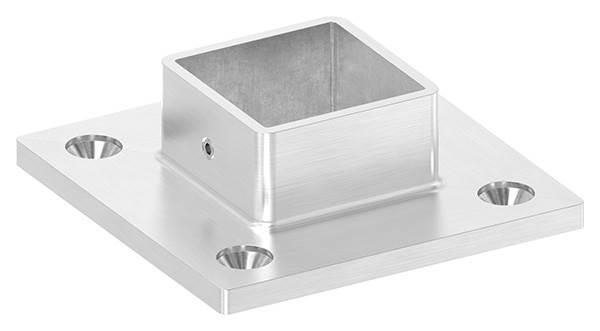 Boden- Wandanker 92x92x6 mm V2A für Quadratrohr 40x40 mm