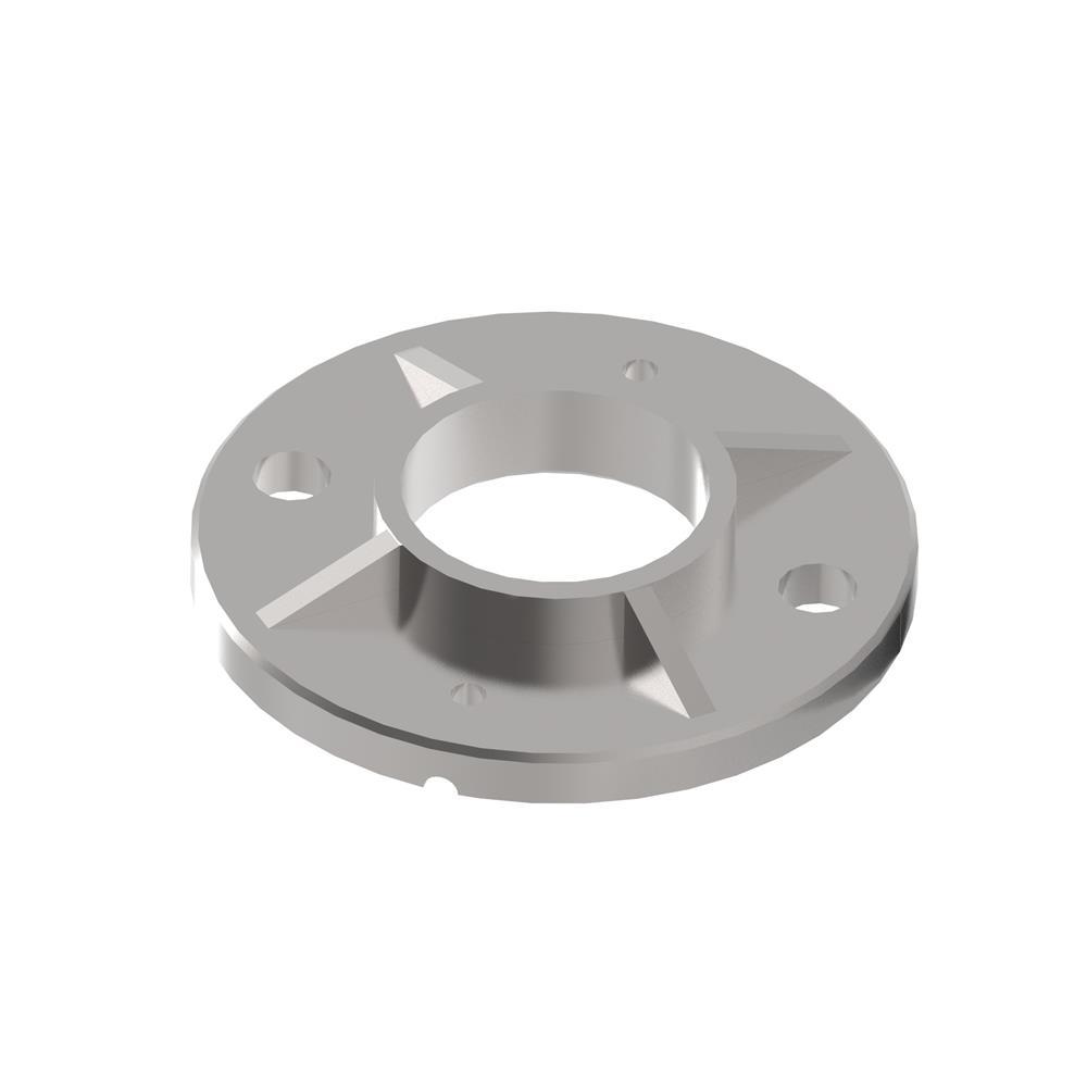 Bodenanker Ø 100x6 mm für Rundrohr Ø 42,4 mm V2A