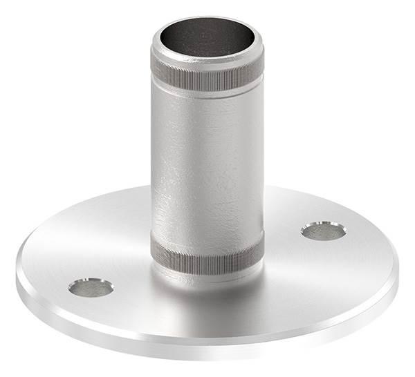 Bodenanker V2A mit Rändelung für Ø 33,7x2,0 mm