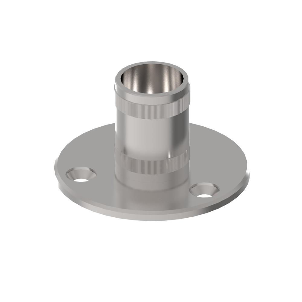 Bodenanker V2A mit Rändelung für Ø 42,4x2,0 mm