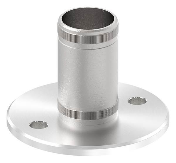 Bodenanker V2A mit Rändelung für Ø 42,4x2,6 mm