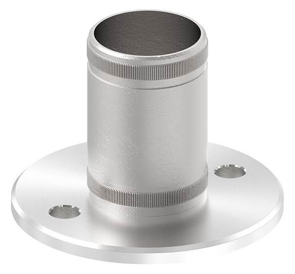 Bodenanker V2A mit Rändelung für Ø 48,3x2,0 mm