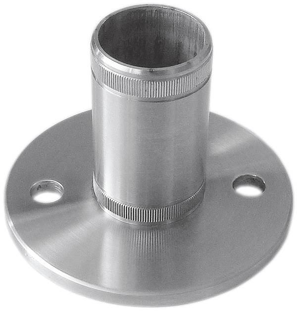 Bodenanker V2A mit Rändelung für Ø 48,3x2,6 mm