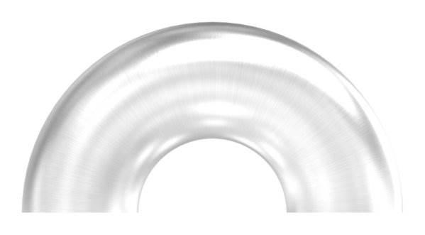 Bogen 180° zum Schweißen für Rundrohr Ø 42,4 mm V2A