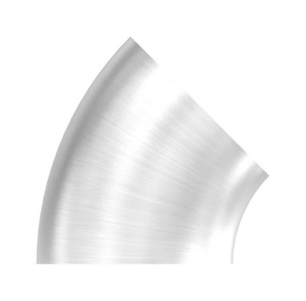 Bogen 45° zum Schweißen für Rundrohr Ø 42,4 mm V2A