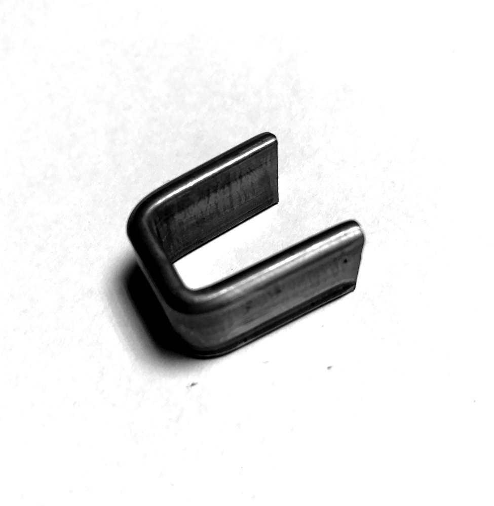 Bund   100 Stück   Material: 12x3 mm   Innenmaß: 11x19 mm   Stahl (Roh) S235JR